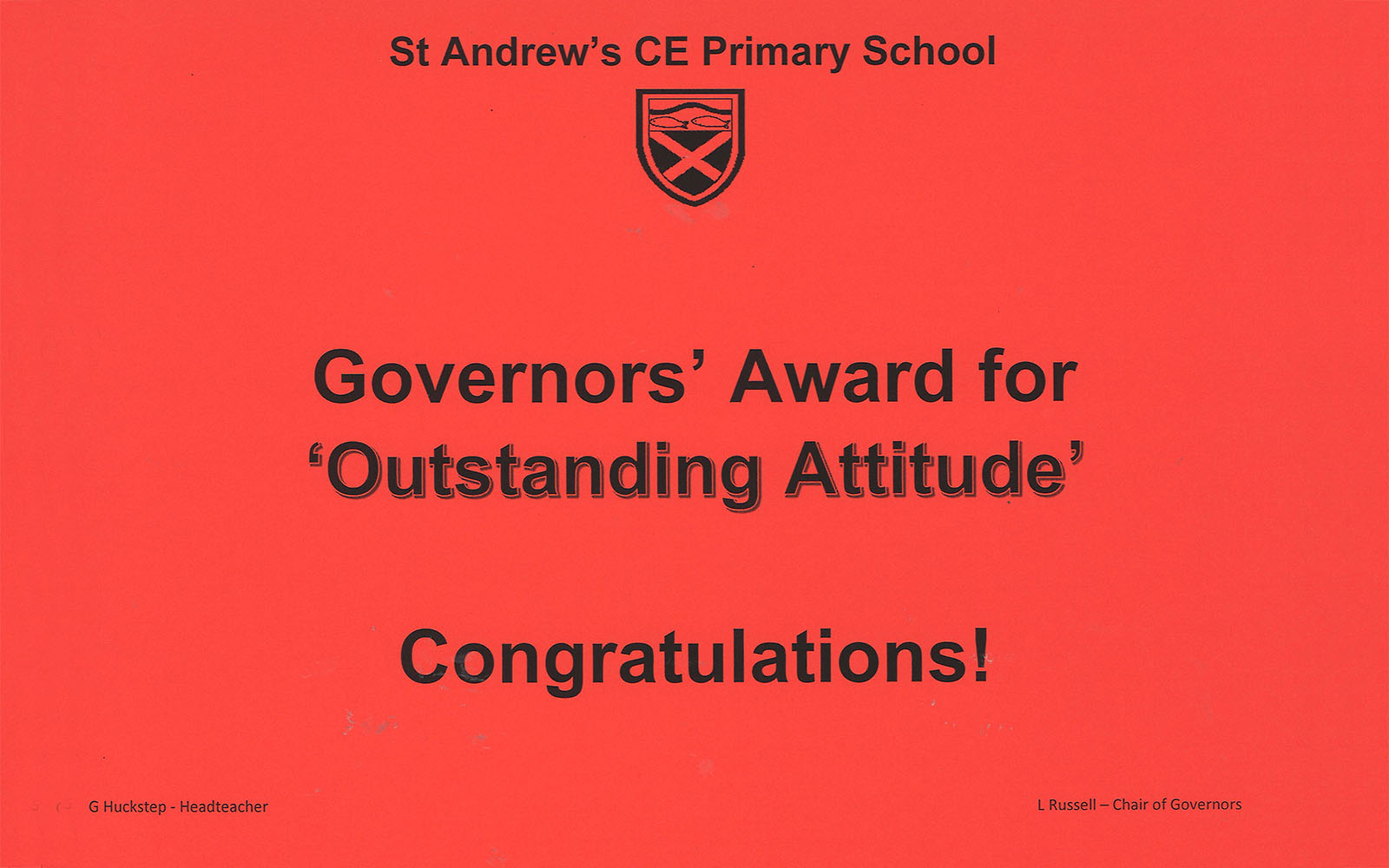 Governors Award